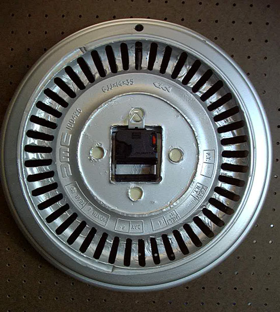 Back of Wheel Clock
