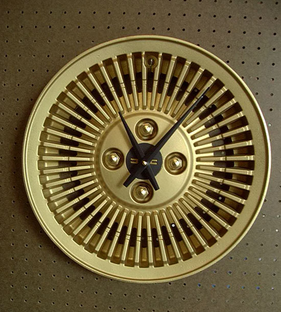 Gold Wheel Clock